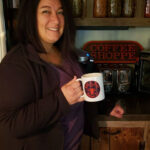 Trish Barnhart with a C&B Coffee Mug (available to order!)